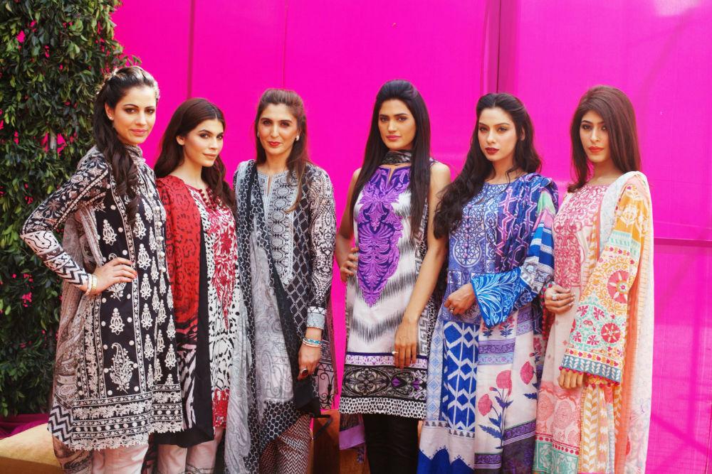 Khadijah Shah with Cybil, Amna, Nadia, Nooray and Sonia