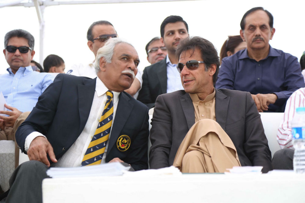 President of the Lahore Polo Club, Abdul Haye Mehta with Chief Guest, Philanthropist, Educationist and Politician Imran Khan