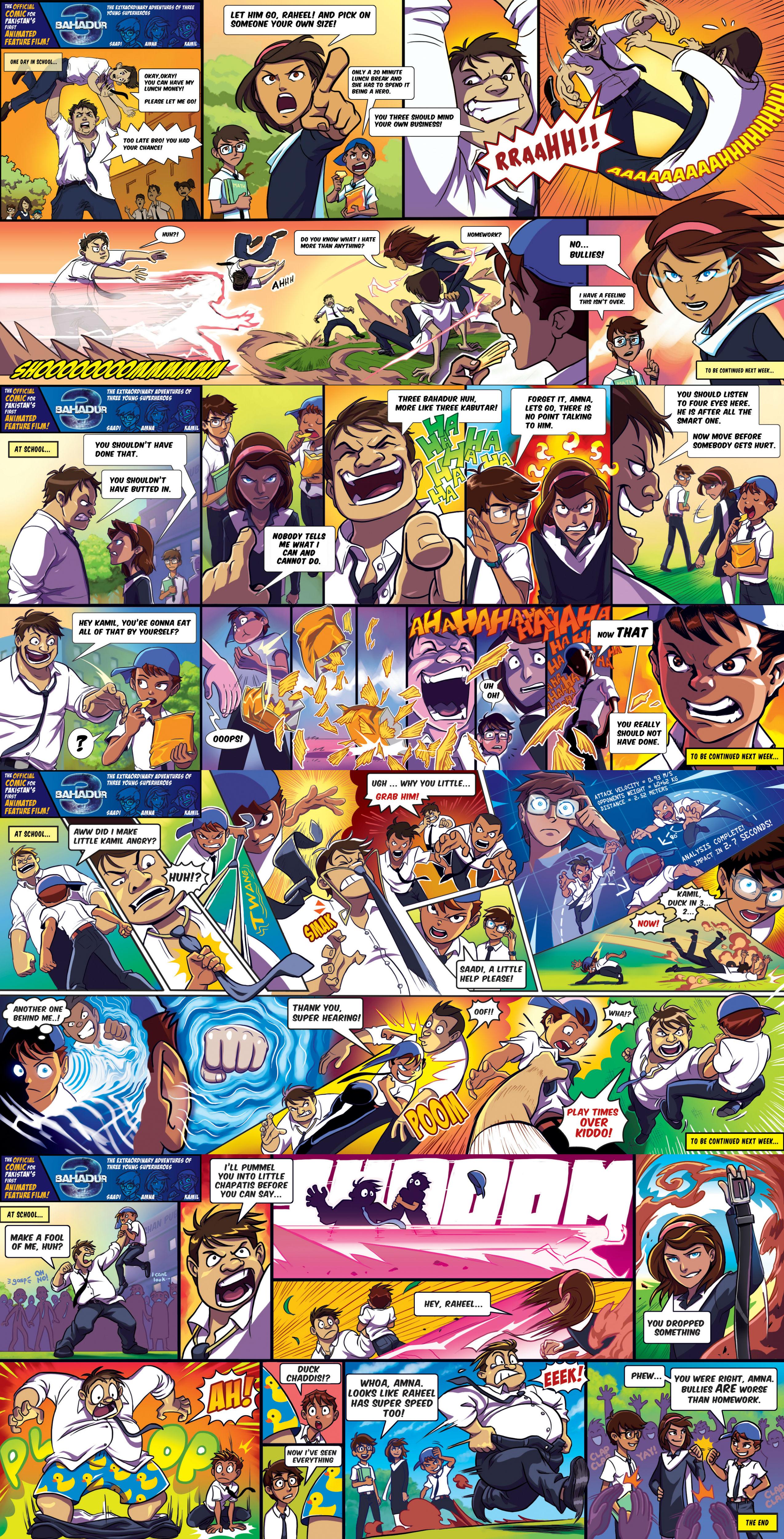 3 bahadur comics
